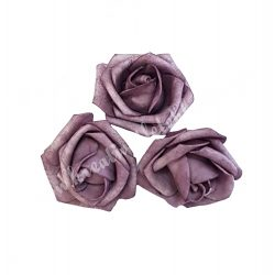 Polifoam rózsa,6x5 cm, vintage lila