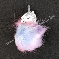 Pompon unikornis, lila-rózsaszín