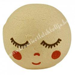 Préselt babafej, alvó, gömbölyű, 30 mm