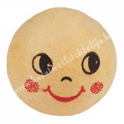 Préselt babafej, mosolygó, gömbölyű, 25 mm