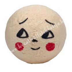 Préselt babafej, nevető, gömbölyű, 25 mm