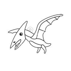 Festhető forma matricafestékhez, pteranodon