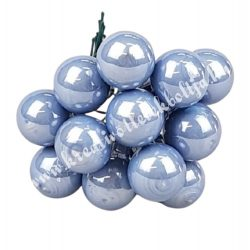 Betűzős üveggömb,  világoskék, 12 db/csokor, 1,5 cm