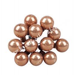 Betűzős üveggömb,  karamell, 12 db/csokor, 1,5 cm