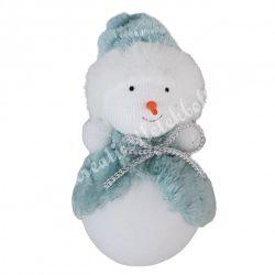 Akasztós hóember, kék, 6x12 cm