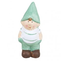 Kerámia fiú zöld sapiban, 4x9 cm
