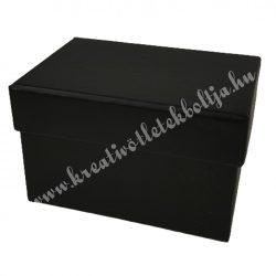 Papírdoboz, tégla, fekete, 9,5x6,5x6 cm