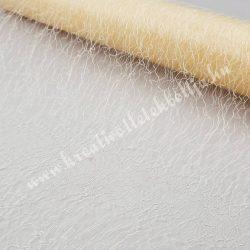Hálós anyag, vanília, 48 cm
