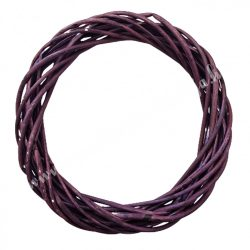Vesszőkoszorú, lila, 20 cm