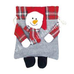 Textil tasak, hóemberes, 14x21 cm