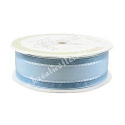 Szatén-organza szalag, kék, 2,5 cm