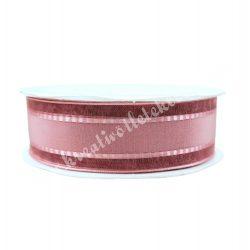 Szatén-organza szalag, rózsaszín, 2,5 cm