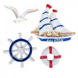 Ragasztható tengeri figurák, 4 darab/csomag