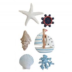Ragasztható tengeri figurák, 6 darab/csomag