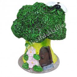Polyresin fatörzsházikó lombos, zöld, 5,5x6,5 cm