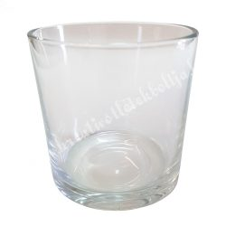Üveg, henger 10x9,7 cm