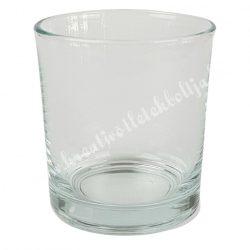 Üveg mécsestartó, 7x8 cm