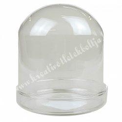 Üvegbúra alátéttel, 11x13,5 cm