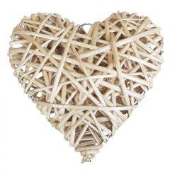 Vessző szív, natúr, 20 cm