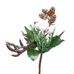 Betűzős karácsonyi pick, tobozzal és aganccsal, 20 cm