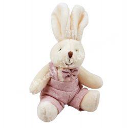 Plüss nyuszi, rózsaszín, fiú, 9x12 cm