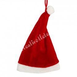 Akasztós dísz, textil karácsonyi sapka, 8x15 cm