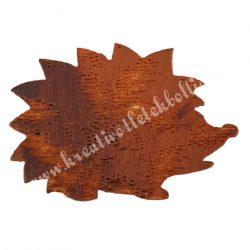 Ragasztható fa süni nyomott mintás, 3x2 cm