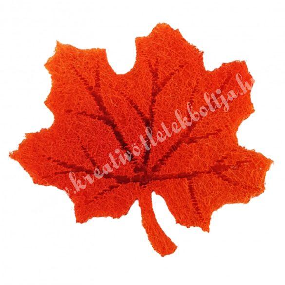 Ragasztható filc levél, narancs, 3x3 cm