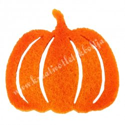 Ragasztható filc tök, narancssárga, 3x3 cm