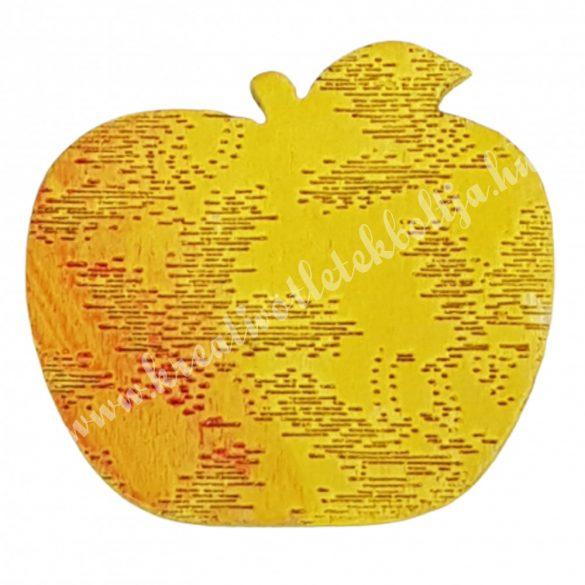 Ragasztható fa alma nyomott mintás, 2,5x2,2 cm