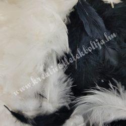 Madártoll keverék fekete-fehér árnyalatok, 3-10 cm, 10 gr/csomag