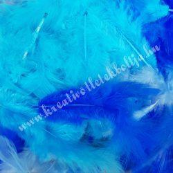 Madártoll keverék kék árnyalatok, 3-10 cm, 10 gr/csomag
