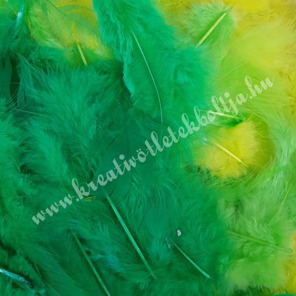Madártoll keverék zöld árnyalatok, 3-10 cm, 10 gr/csomag