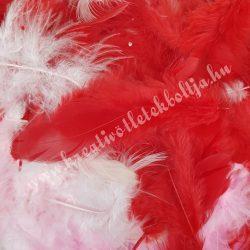 Madártoll keverék piros árnyalatok, 3-10 cm, 10 gr/csomag