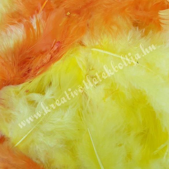Madártoll keverék sárga-narancssárga árnyalatok, 3-10 cm, 10 gr/csomag