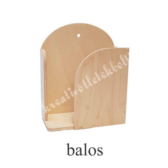 Papírzsebkendő tartó, kicsi 1., jobbos-balos