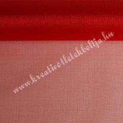 Organza anyag, piros, 47 cm