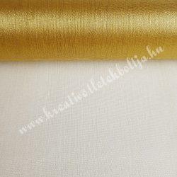 Organza anyag, arany, 47 cm