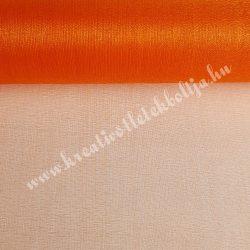 Organza anyag, narancssárga, 47 cm