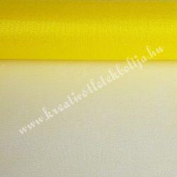 Organza anyag, citromsárga, 47 cm