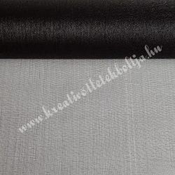 Organza anyag, fekete, 47 cm