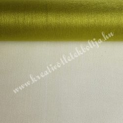 Organza anyag, olivazöld, 47 cm
