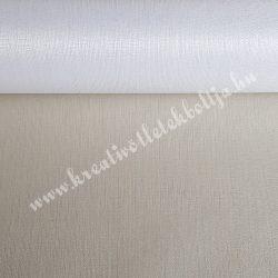 Organza anyag, fehér, 47 cm