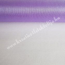 Organza anyag, levendula lila, 47 cm