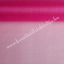 Organza anyag, pink, 47 cm
