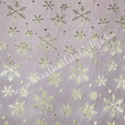 Hópehely mintás műszőrme, púder, 27 cm