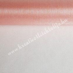 Organza anyag, púder rózsaszín, 47 cm
