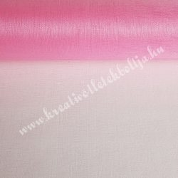 Organza anyag, rózsaszín, 47 cm