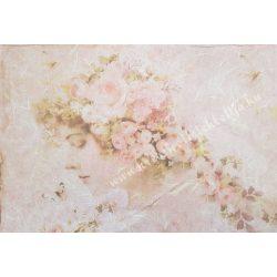 Rizspapír, hölgy rózsákkal