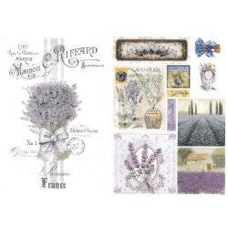 Rizspapír, levendulás Provence képek
